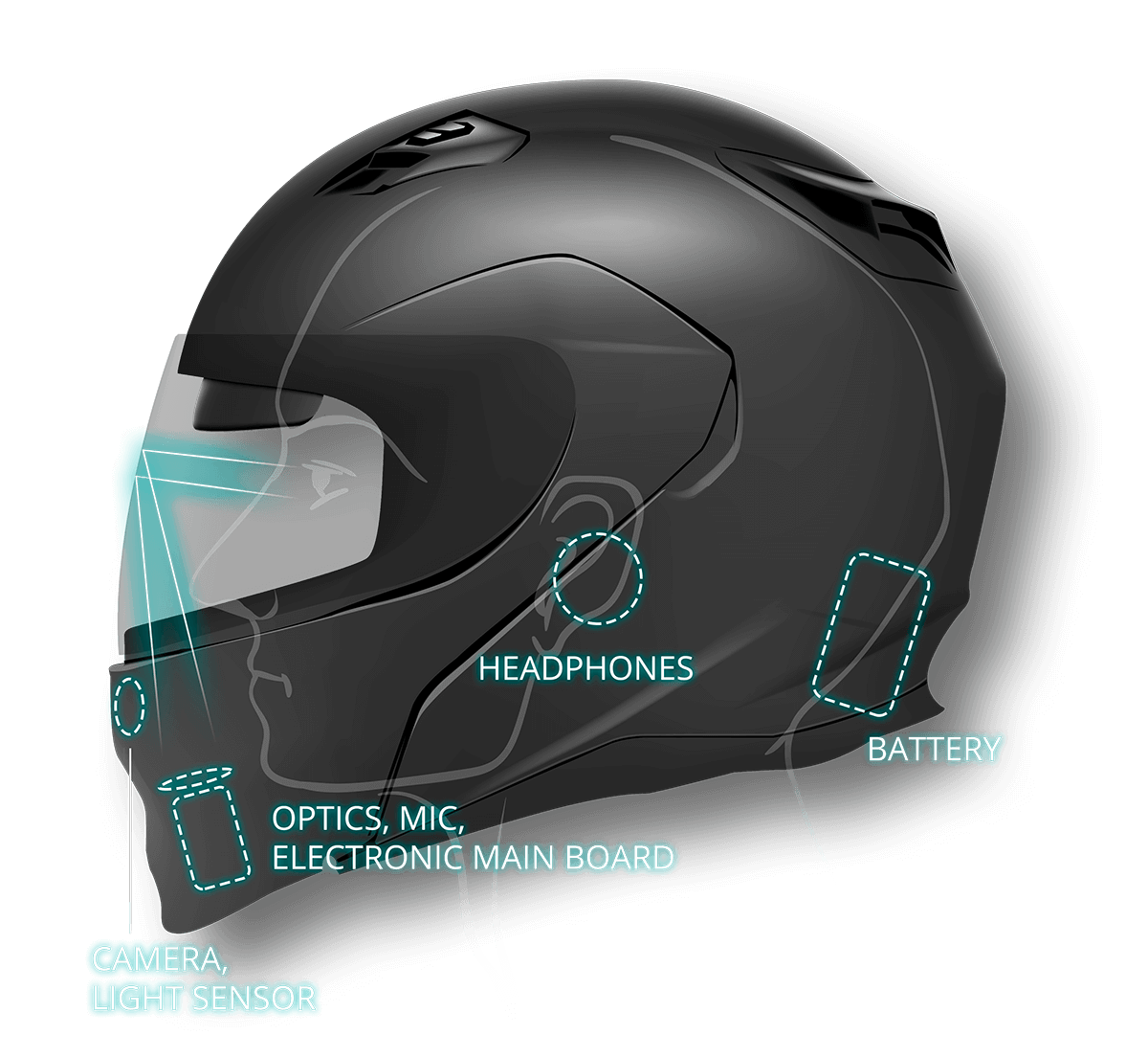 Motorcycle Helmet With Hud >> Livemap Motorcycle Smart Helmet With Augmented Reality Navigation